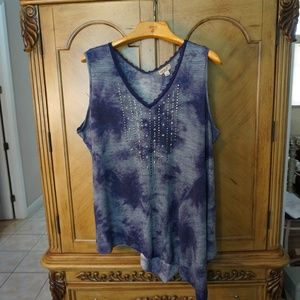 Plus size tunic top One World 3X NWOT